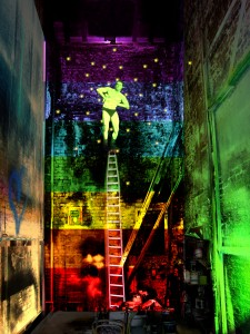 Sub Rosa – visualization of the opening scene in the paint frame of the Citz