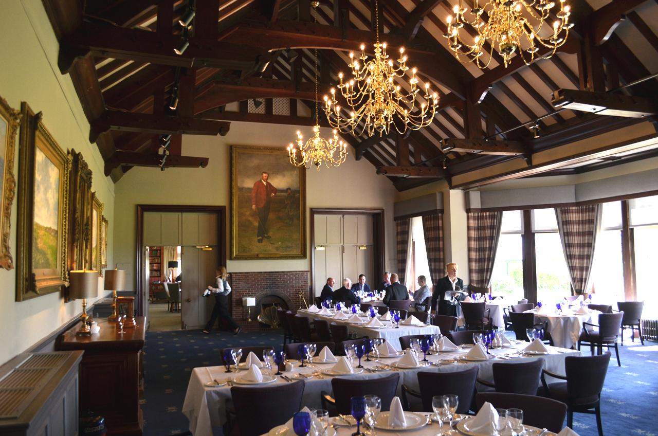 dining room royal troon golf club nich smith lighting design